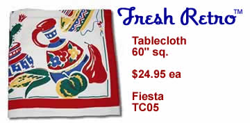 Vintage Tablecloth - New Vintage Style Fiesta